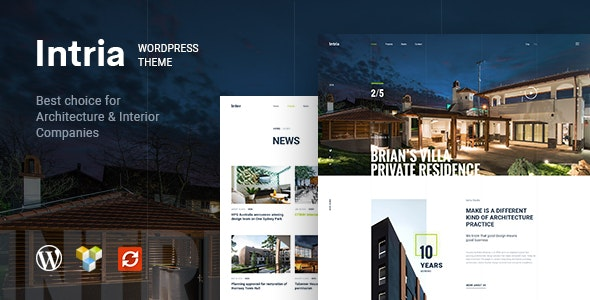 Intria - 建筑工程室内装修网站WordPress主题-创客云