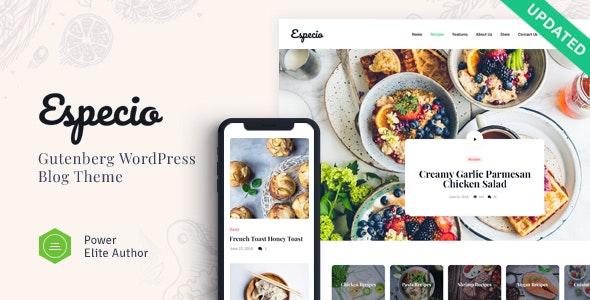 Especio - 个人可视化美食博客WordPress主题-创客云