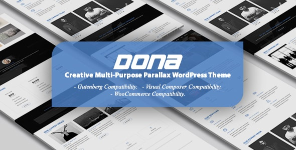 DONA - 创意多功能视差WordPress主题-创客云