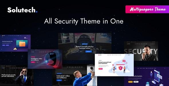 Solutech - 安保设备安全公司网站WordPress主题-创客云