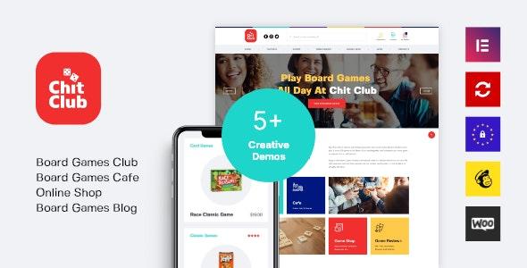 Chit Club - 棋社酒吧咖啡馆WordPress主题-创客云