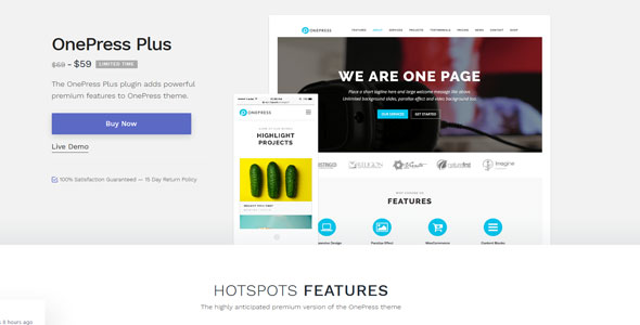 OnePress Plus - 创意灵活简洁WordPress单页主题-创客云