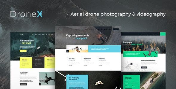 DroneX - 航空摄影航拍网站WordPress主题-创客云