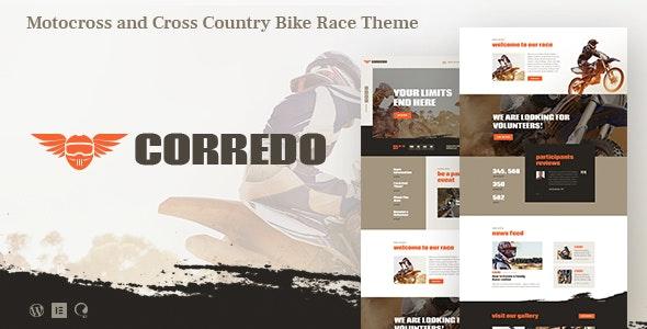 Corredo - 自行车摩托车比赛网站WordPress主题-创客云