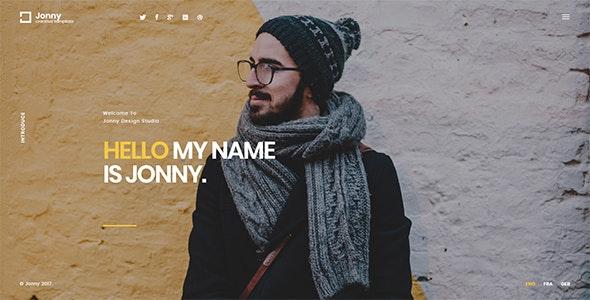 Jonny - 专业个人网站模板WordPress主题-创客云