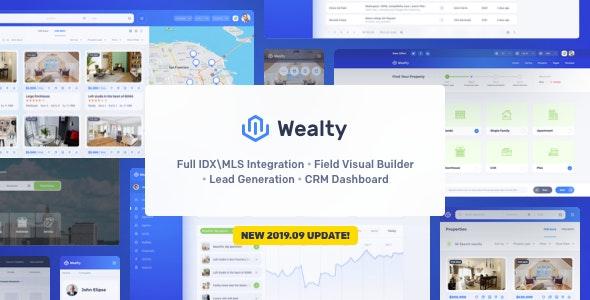Wealty - 多功能房地产WordPress主题-创客云