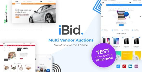 iBid - 多供应商拍卖网站WooCommerce模板-创客云