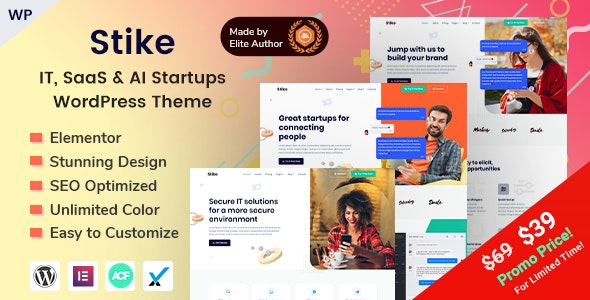 Stike - IT 信息技术可视化编辑网站模板-创客云