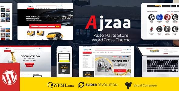 Ajzaa - 汽配商店网站模板WordPress主题-创客云