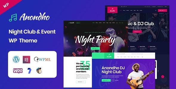 Anondho - 夜总会KTV音乐酒吧WordPress主题-创客云