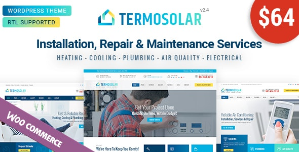 Termosolar - 电气水暖维护家政服务网站模板-创客云
