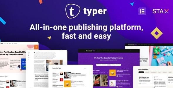 Typer - 多作者博客文章发布WordPress主题-创客云