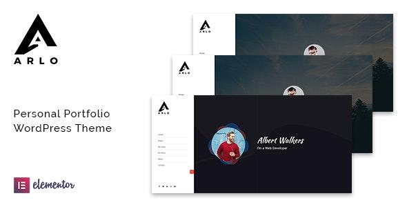 Arlo - 自由职业个人作品展示WordPress主题-创客云