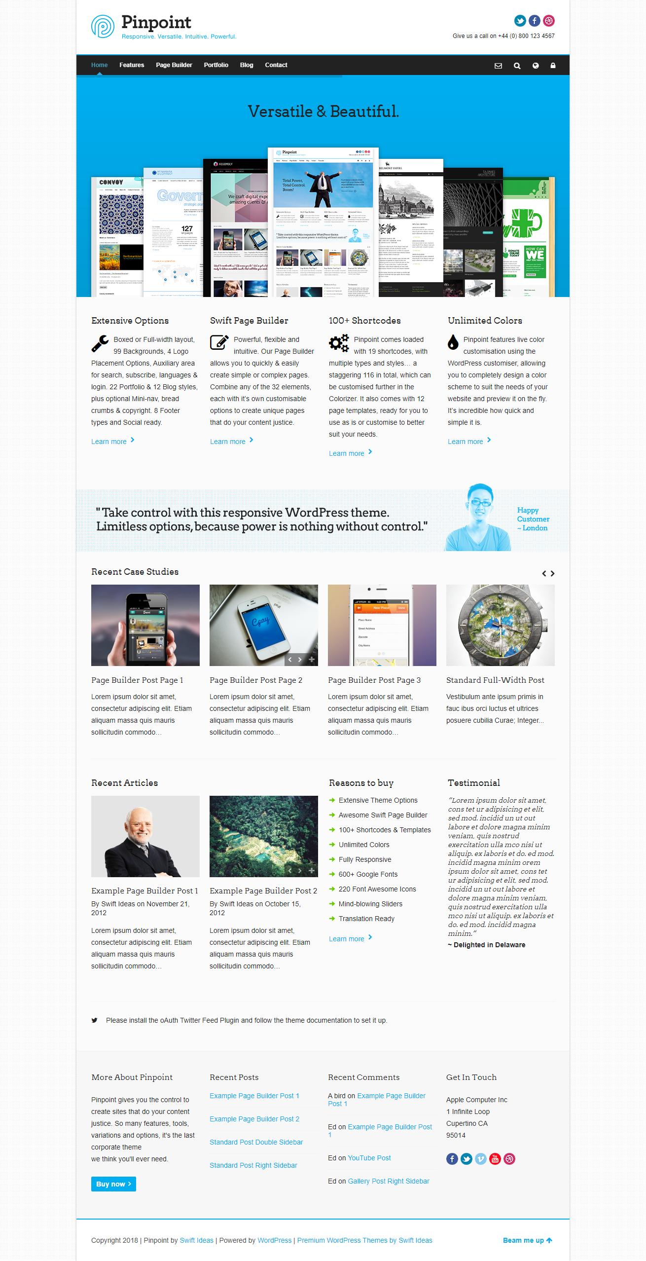 多用途WordPress企业主题:Pinpoint