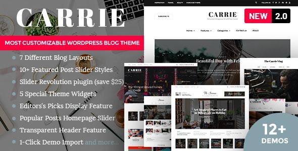 Carrie - 专业新闻博客网站WordPress模板-创客云