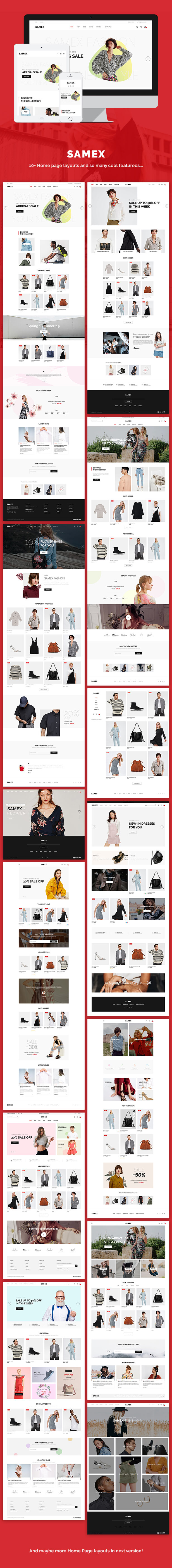 Samex - 极简轻型在线商店WooCommerce模板-创客云