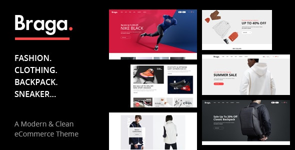 Braga - 时尚服饰在线商店WooCommerce模板-创客云
