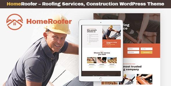 HomeRoofer - 建筑活动房业务网站WordPress主题-创客云