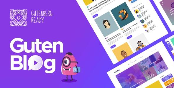 Gutenblog - 现代时尚博客模板WordPress主题-创客云