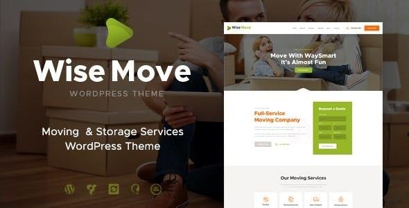 Wise Move - 搬家仓储服务WordPress主题-创客云