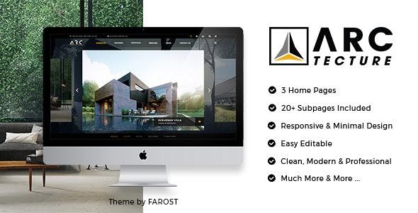 Arctecture - 建筑装饰景观设计模板WordPress主题-创客云