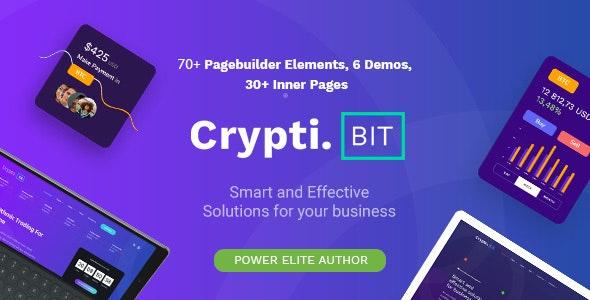 CryptiBIT - ICO/IEO 比特币区块链网站模板WordPress主题-创客云