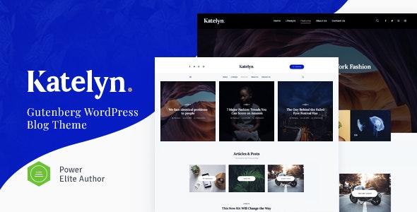 Katelyn - 创意简约博客网站模板WordPress主题-创客云