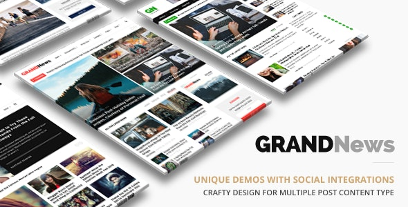 Grand News - 实时新闻资讯博客模板WordPress主题-创客云