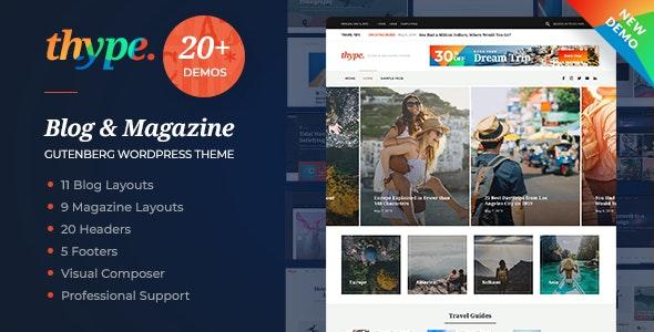 Thype | 专业新闻博客网站模板WordPress主题-创客云