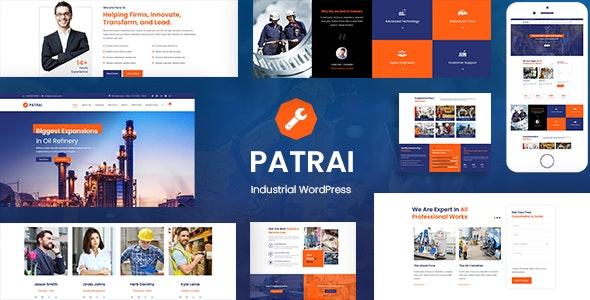 Patrai Industry - 工厂加工企业WordPress主题-创客云