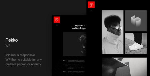 Pekko - 迷你黑色风格网站WordPress模板-创客云