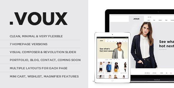 Voux - 时尚服饰商店网站模板WordPress主题-创客云