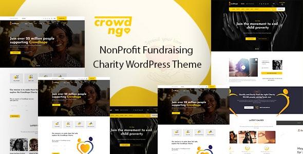Crowdngo – 慈善公益众筹网站WordPress模板-创客云