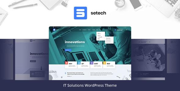 Setech -IT服务解决方案WordPress主题-创客云