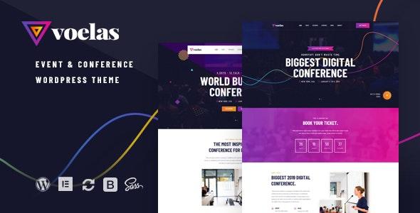 Voelas - 活动会议日程安排网站WordPress模板-创客云