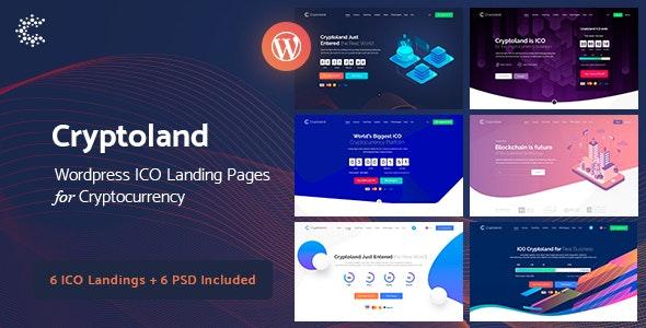 Cryptoland - ICO区块链比特币网站WordPress主题-创客云