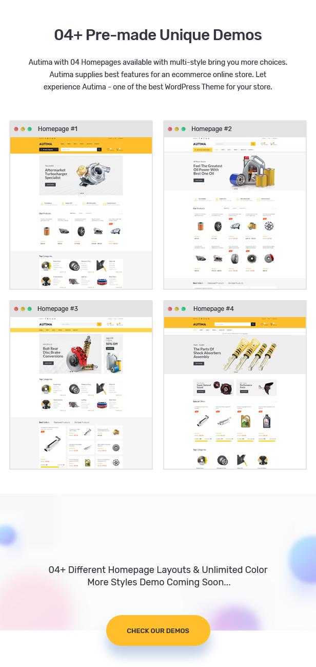 Autima - 汽车配件网站模板WordPress主题-创客云