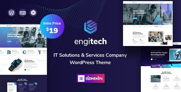 Engitech - IT信息技术解决方案WordPress主题-创客云
