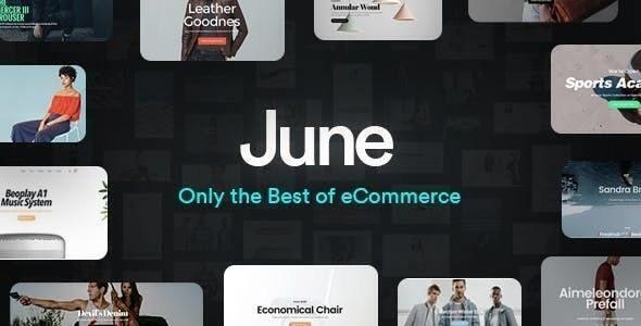 June - 时尚服饰数码电器在线商城模板-创客云