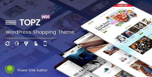 TopZ - 顶级食品商店运动时尚商店WooCommerce主题-创客云