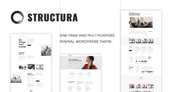 Structura - 轻型单页网站模板WordPress主题-创客云