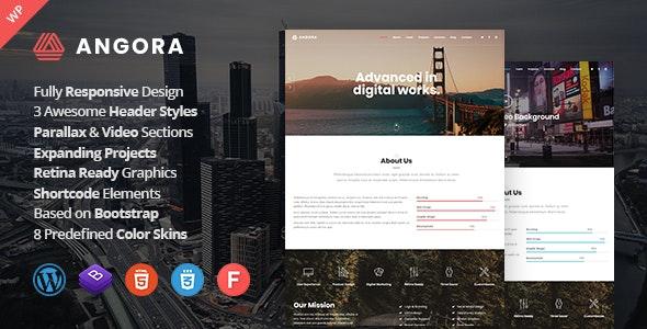 Angora - 单页视差效果网站模板WordPress主题-创客云