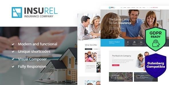 InsuRel - 保险金融行业网站WordPress模板-创客云