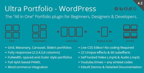 Ultra Portfolio – 作品展示WordPress插件 – v5.1