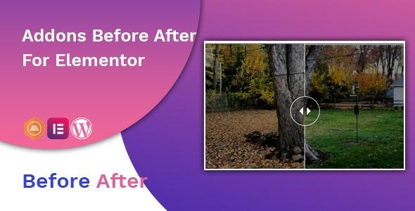 Before After Image Slider Elementor Addon 前后图像图片对比插件 – v1.0