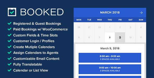 Booked – 预约预订WordPress插件 – v2.2.6