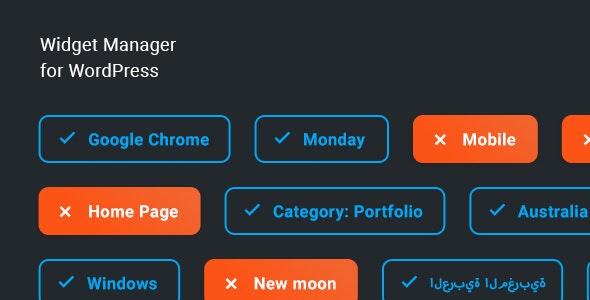 Widget Manager – 窗口小部件小工具管理WordPress插件 – v1.0.0