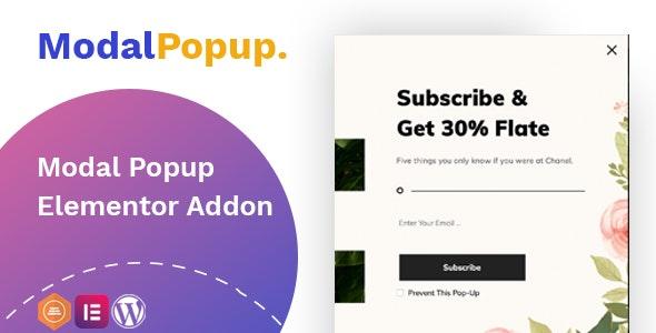 Modal Popup box – Elementor Addon 模态弹窗插件