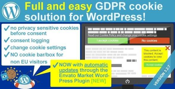WeePie Cookie Allow – 轻松完整Cookie同意插件 – v3.2.12