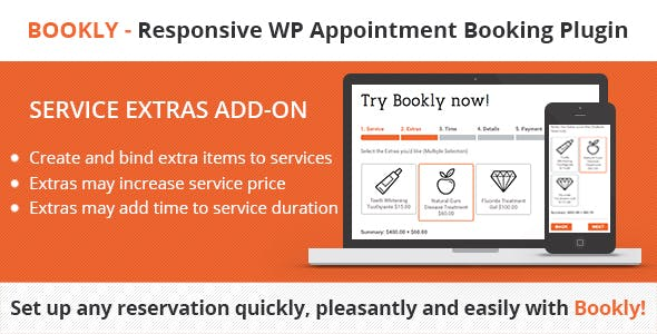 Bookly Service Extras 预定额外服务插件 – v2.9